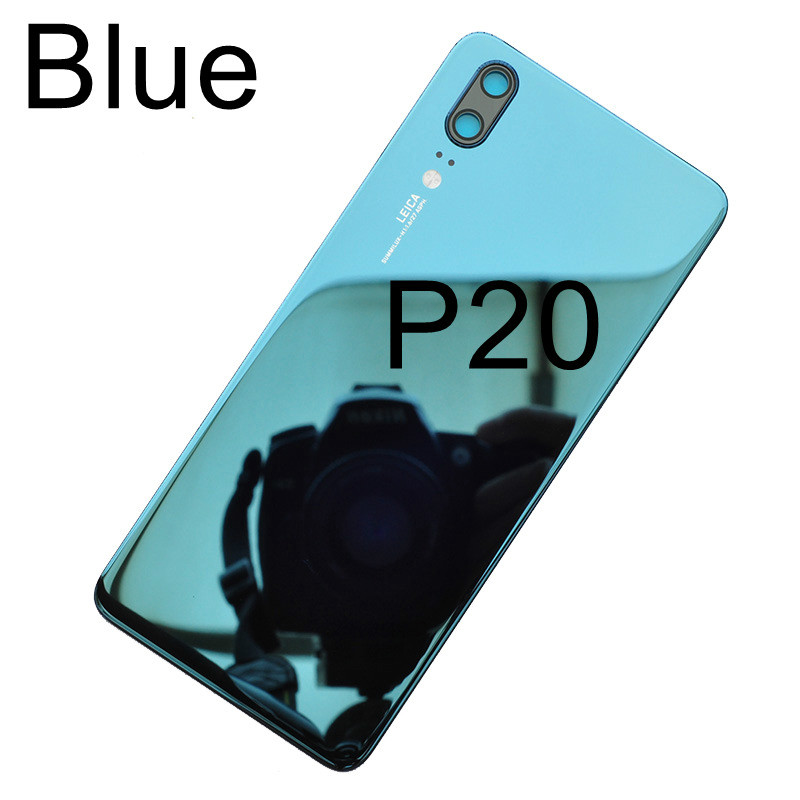 Back Glass Cover For Huawei P20 Pro Battery Cover Rear Panel Back Door Housing Case For Huawei P20 Battery Cover+Camera Lens