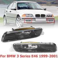 Car Front Fog Light For E46 323i 325i 328i 330i 1998 1999 2000 2001 3 Series 4Door Front Bumper Fog Lamp Headlights Foglights
