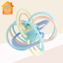 0-12 Months Baby Toy Newborn Teether Ball Music Toy Rattles Earily Educational Grasping Toy Plastic Hand Bell Rattle Ball(China)