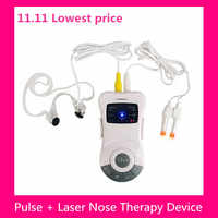 2 In 1 Laser Pulse Nose Rhinitis Allergy Reliever Treatment Anti-snore Apparatus Sinusitis Therapy Massage Clip Health Care