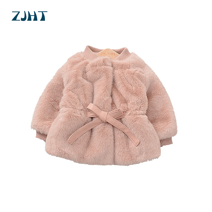 Children Girls jacket Coat Toddlers Girls jacket Windbreaker Girls Faux Fur