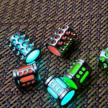 Cuentas luminosas de titanio con forma de cuchillo, cuerda de Paracord, accesorios para llavero, pulsera, cuentas DIY