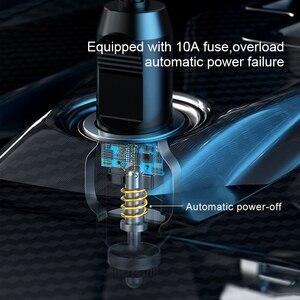 Image 2 - Baseus 12V sprężarka powietrza samochodowa inteligentny opona samochodowa pompa nadmuchiwana Mini przenośne elektryczne opona samochodowa Inflator kompresor