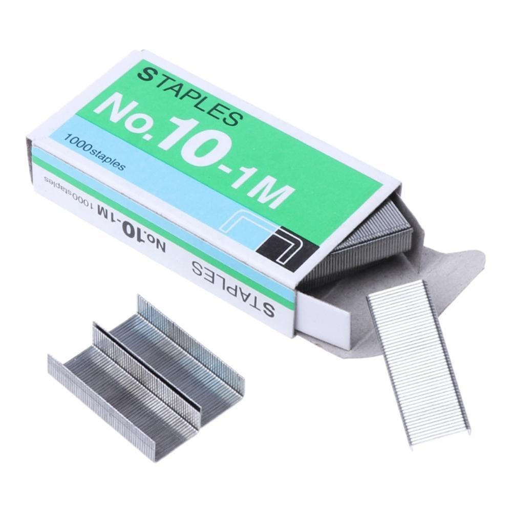 1box Silver Grapadora Grapas Staples Office Stationery Staple No.10 Binding Supplies Normal Staples Metal Tapetool