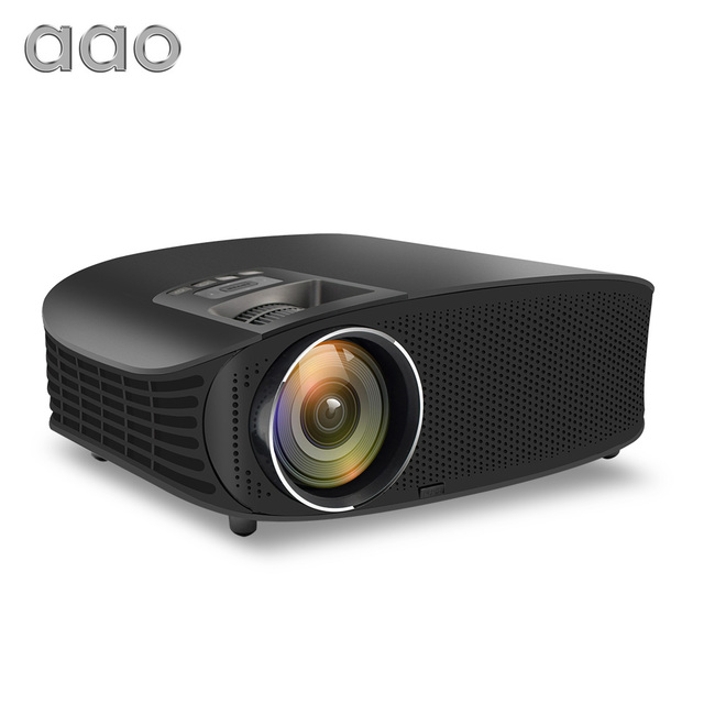 AAO YG600 HD Projector 4000 Lumens LCD Beamer Support Full HD 1080P Home Theatre HDMI VGA USB Video 3D Portable GMK1 Projector