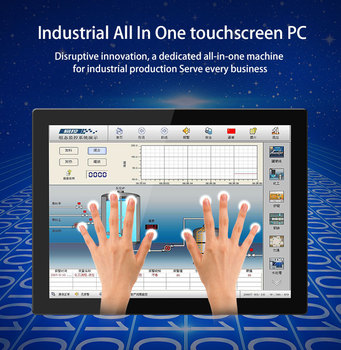 19 Inch Desktop Computer Win10 Linux 232 Industrial Tablet Computer Capacitive Touch Screen Industrial Control Products J1900 цена 2017