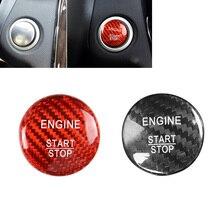 Auto Motor Start Stop Knop Cover Tirm Sticker Rood/Black Carbon Fiber Voor Mercedes Benz A B C W205 glc X253 Amg E Ml Gle