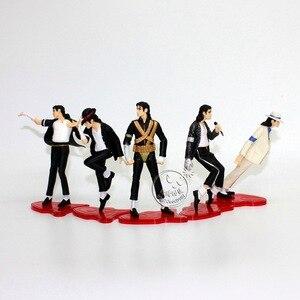 Image 2 - 5 pçs michael jackson moonwalk pvc figura de ação shf s. h. figuarts rei do pop mj collectible modelo brinquedo para presentes das crianças