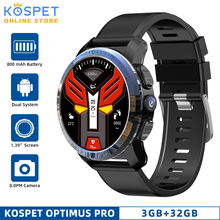 Смарт часы KOSPET Optimus Pro, 3 ГБ, 32 ГБ, Android 7,1, две системы, 800 мАч, камера, Wi Fi, GPS, 4G, Smatwatch, телефон для IOS, Android