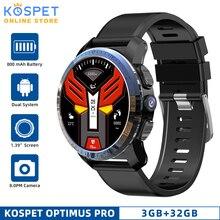 KOSPET Optimus Pro 3GB 32GBสมาร์ทนาฬิกาAndroid7.1 ระบบDual 800mAhกล้องWIFI GPS 4G smatwatchโทรศัพท์สำหรับIOS Android