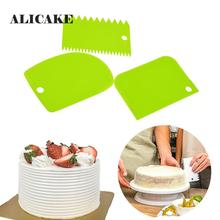 3pcs/lot Cream Cake Scraper Irregular Teeth Edge DIY Scraper Cake Deco
