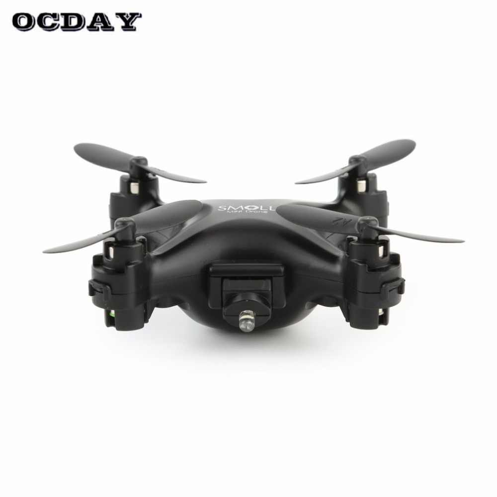 S26 طائرة ذات أربع مراوح صغيرة Drone دون كاميرا كوادكوبتر بالريموت كنترول للأطفال مصباح ليد أسود داخلي في الهواء الطلق تحلق Quadcopter fz