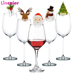 50pcs Santa Claus Snowman Tree Wine Glass Christmas Decorations For Home Table Place Cards Xmas Gift New Year Party Supplies