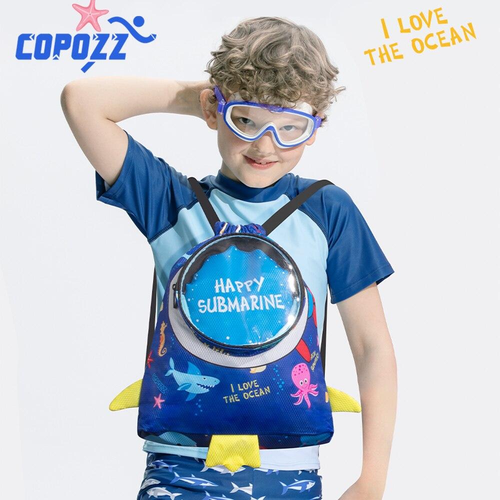 COPOZZ-mochila impermeable para niños, bolsas deportivas para niños, niños y niñas, mochila de natación, Combo de bolsas húmedas secas, para acampar en la playa y al aire libre