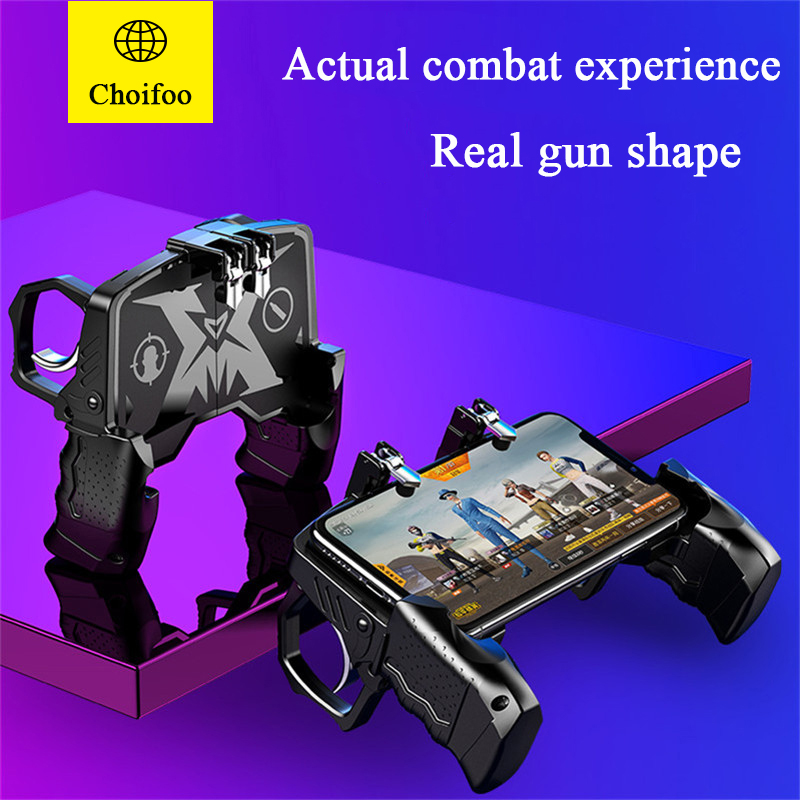 For Pubg Controller for Mobile Phone Game Shooter Trigger Fire Button for IPhone Android Phone Gamepad Joystick PUGB Helper