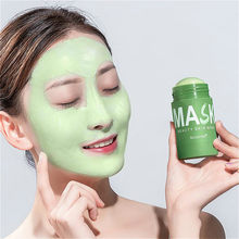 Limpo máscara facial beleza pele chá verde limpo máscara facial vara limpa poros sujeira hidratante clareamento hidratante cuidados rosto