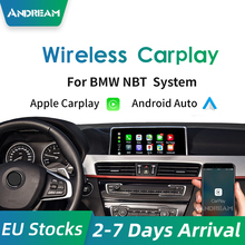 Bezprzewodowy Apple Carplay Android Auto moduł dla wszystkich BMW NBT F30 F10 F20 F22 F23 F32 F01 F07 F48 F25 F26 F15 lustro iOS-link tanie tanio Andream CN (pochodzenie) Double Din 64GB PCBA 1280*480 0 5kg 535d 12 v 36*32*22 EW-BMCP-NBT01A