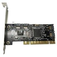 PCI do SATA stabilny konwerter kart adapter do kontrolera szybkie dodawanie łatwe zastosowanie profesjonalna wtyczka wewnętrzna 4 porty na pulpit pc na