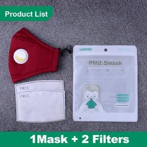 Image 5 - 1 stücke Baumwolle Erwachsene Schwarz Mund Gesicht Maske mit 2 stücke Aktivkohle Filter Mund muffel für Männer Frauen mode Unisex Masken