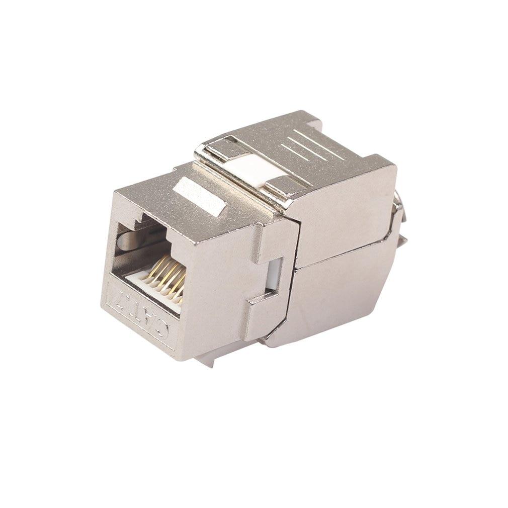 Network RJ45 Cat6 Cat7 Keystone Jack Module 360 Degree Full Shielded RJ45 Socket To LSA Tool-free Termination 2020 Drop Shipping