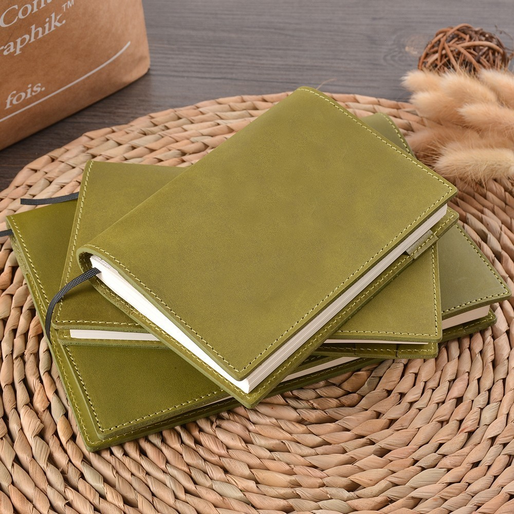 100% Genuine Leather Notebook Planner Book Cover A5 B6 A6 For MD Diary Original Bullet Journal Drawing Sketchbook