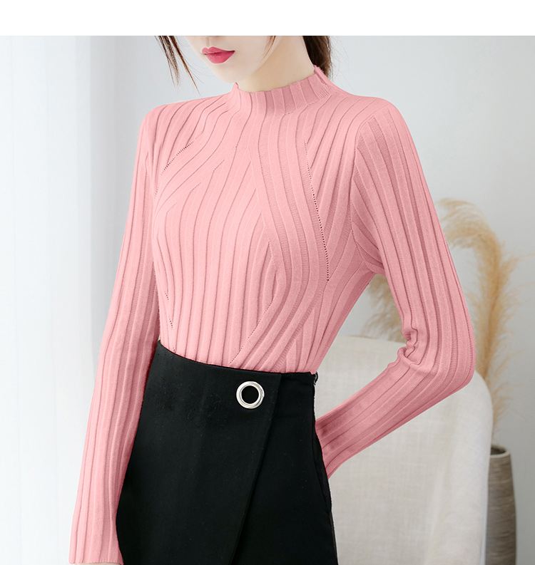 Sweaters fashion 19 women sweaters ladies winter clothes women knit solid black long sleeve tops sueter mujer Pullovers 0364 14