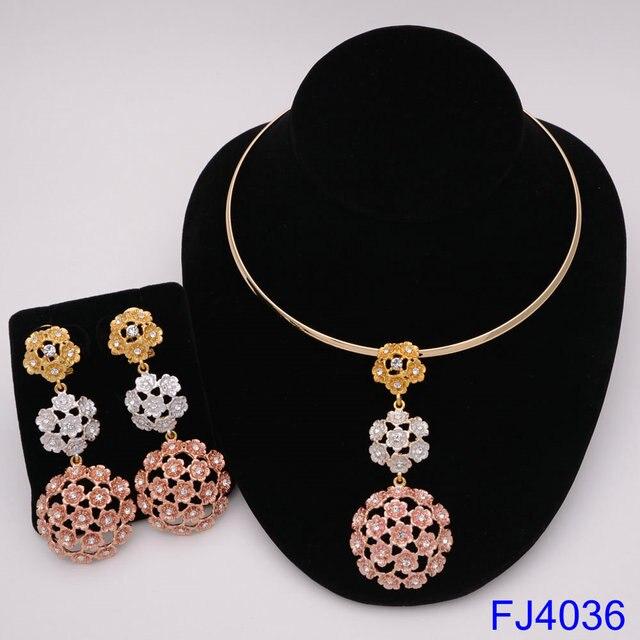 Moda nigeriano mulher casamento africano contas conjunto de jóias cor do ouro moda dubai cor ouro presente de noiva 5