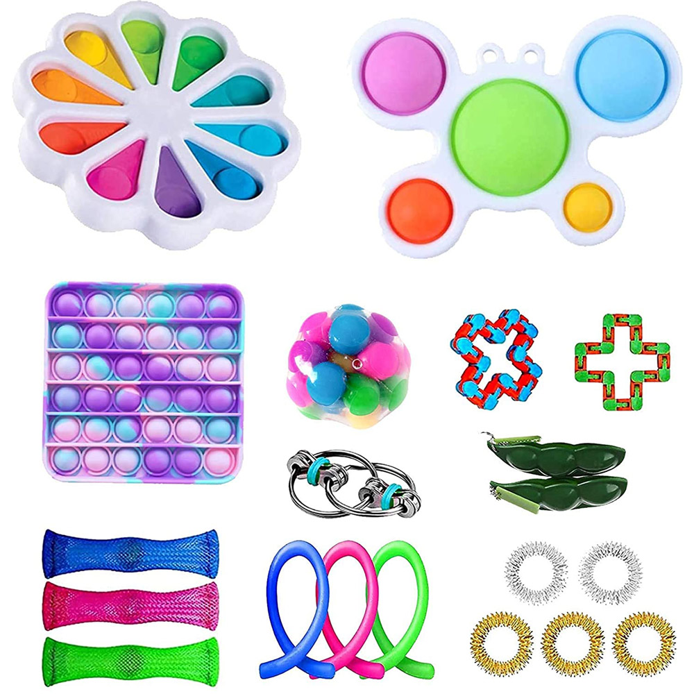 Anti Stress Set Stretchy Strings Pop It Popit Adults Children Fidget Pack Sensory Relieves Stress Fidget Toys Anti Stress Set