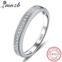 Lmnzb Роскошные настоящие 100% 925 пробы серебряные кольца для