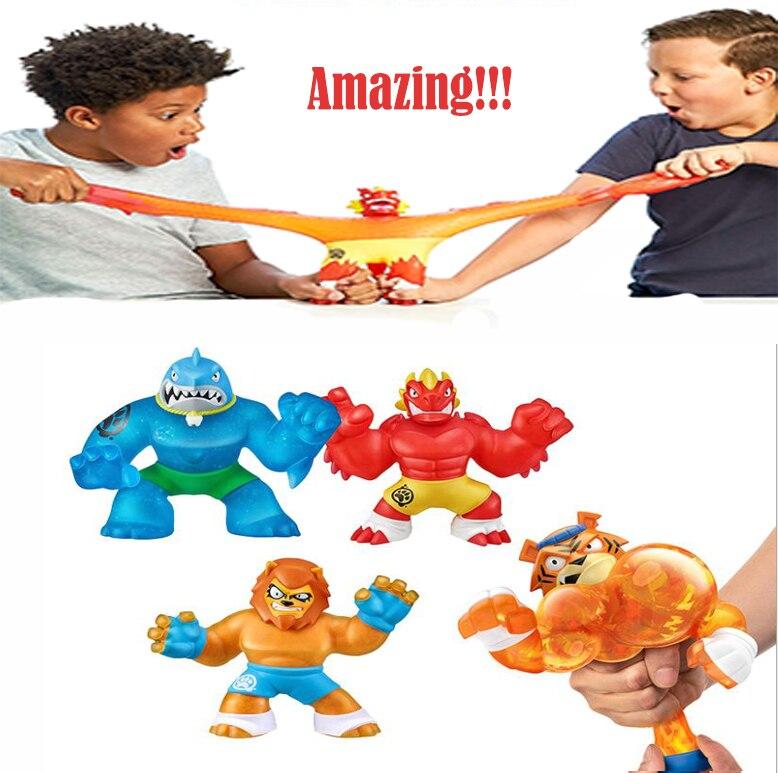 Pode escolher goo jit zu super herói squeeze squishy subindo anti estresse brinquedos estatuetas collectible bonecas macias para meninos caçoa o presente