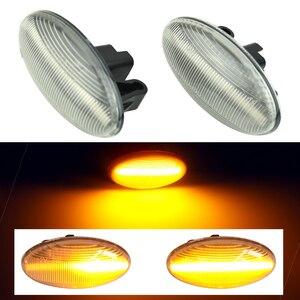 Image 2 - Für Peugeot 307 206 207 407 107 607 Citroen C1 C2 C3 C5 LED Dynamische Blinker Licht Fließende Wasser seite Marker Anzeige Licht