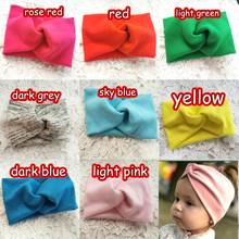 Winter Autumn Solid Color Baby Girls Headband Girls Twisted Knotted Soft Elastic Baby Girl Headbands Hair Accessories Haarband(China)