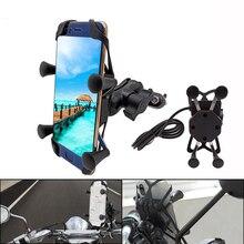 С USB зарядным устройством 360 Вращающийся держатель для мобильного телефона для мотоцикла Honda CRF150R CRF450R CRF250X CRF450X CRF230F CRF250L