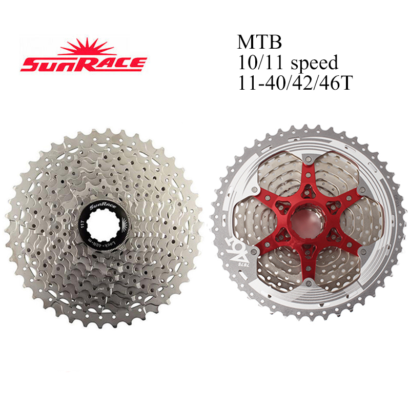SUNRACE MTB <font><b>11</b></font> Speed Bicycle <font><b>Cassette</b></font> 10 Speed Mountain Bike Wide Ratio Bike Freewheel <font><b>11</b></font>-40/<font><b>42</b></font>/46T Cycling Accessories Flywheel image