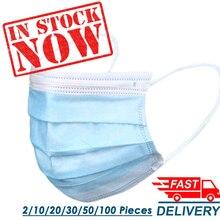 ¡En stock! ¡Entrega rápida! Mascarilla facial desechable de alta calidad, 3 capas, antipolvo, mascarillas para la cara, mascarilla para la boca