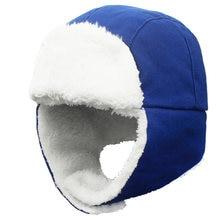 Детская шапка ушанка зимняя детская теплая флисовая Русская