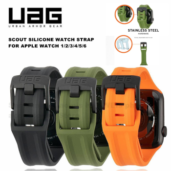 breathable strap for apple watch band 38 42mm iwatch 4 band 44 40mm sports silicone belt bracelet correa apple watch 5 4 3 2 1 UAG Scout Silicone Watch Band Strap Belt Bracelet Correa for Apple Watch 6/5/4/3/2/1 44mm-42mm/38-40mm Active Band Strap UAG