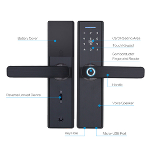 Image 5 - WIFI App Electronic Door Lock, Intelligent Biometric Door Locks Fingerprint, smart wifi Digital Keyless Door Lock