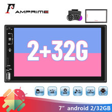 """AMPrime 2 Din araba radyo HD araba Stereo 7 """"evrensel dokunmatik ekran MP5 Autoradio USB FM AUX desteği geri görüş kamerası araba aksesuarları"""