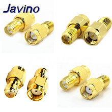 Connector SMA Female to RP SMA Male Plug Connectors Adapter Gold Plated Straight Coaxial RF Adapters цена 2017
