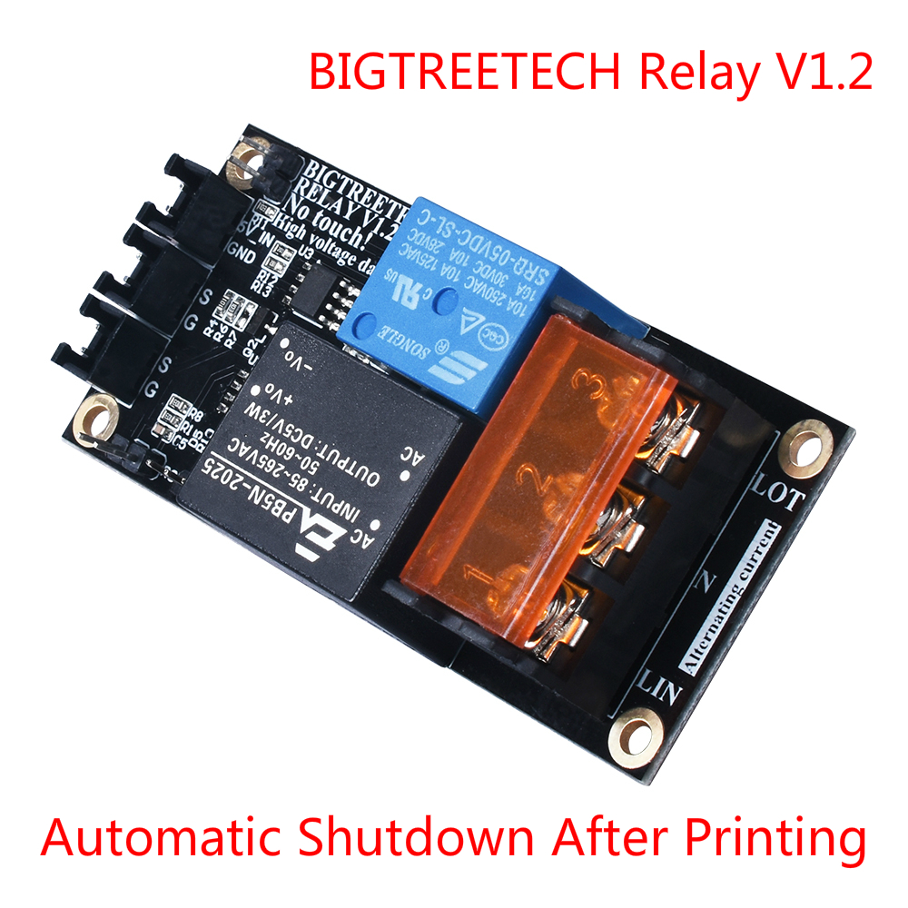 BIGTREETECH Relay V1.2 Module Automatic Shutdown Module After Printing To SKR V1.3 PRO MINI E3 Cr10 Extruder 3D Printer Parts