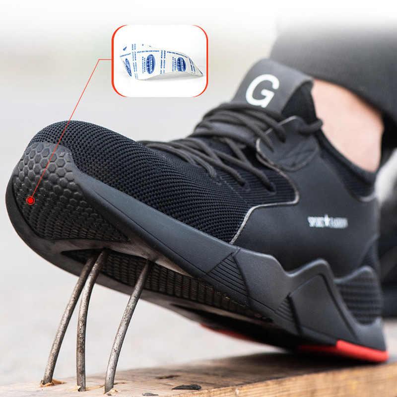 Erkek çelik burunlu iş ayakkabıları güvenlik botu anti-delinme güvenlik ayakkabıları erkek botları güvenlik yıkılmaz ayakkabı iş ayakkabı askeri bot 50