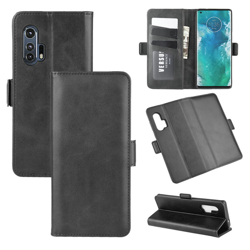 Wallet Case For Motorola Edge Plus Edge+ Moto Edge Plus For Motorola Edge Plus Double Flip Leather Cover Phone Case Etui