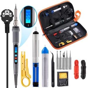Image 2 - Kit per saldatore Handskit 90w kit per saldatore a temperatura regolabile digitale con punte per saldatura strumenti per saldatura con pompa dissaldante