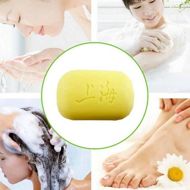 85g Shanghai Sulfur Soap Oil-control Acne Treatment Blackhead Remover Soap Chinese Traditional Anti Fungus Skin Care Soap 5