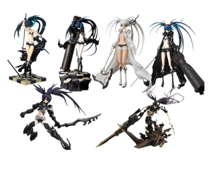 New Anime Figure Black Rock Shooter Heroes White Movable <font><b>Sexy</b></font> <font><b>girl</b></font> Version PVC Model toy Collectible Doll gift <font><b>15</b></font>-30cm image