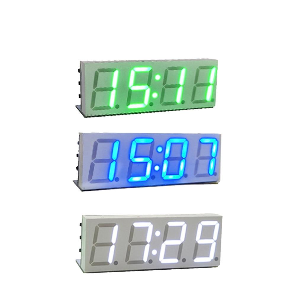XY-clock Electronic DIY Wifi LED Timer Clock Kit 4 Digit Display 5V Mciro USB Type-C Car Clock Digital Electronic Clock