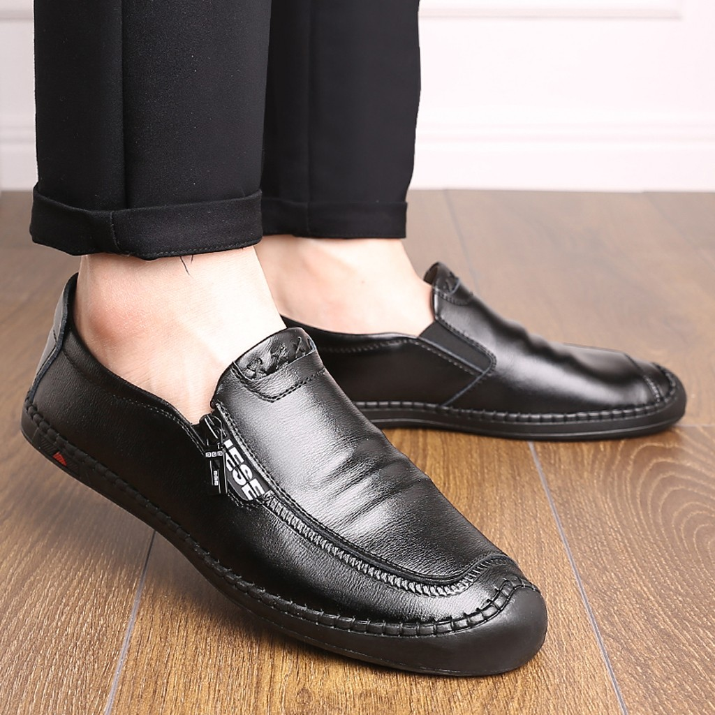 Luxury Brand Men Leather Formal Business Shoes Male Office Work Flat Shoes Oxford Breathable Party Wedding Anniversary Shoes