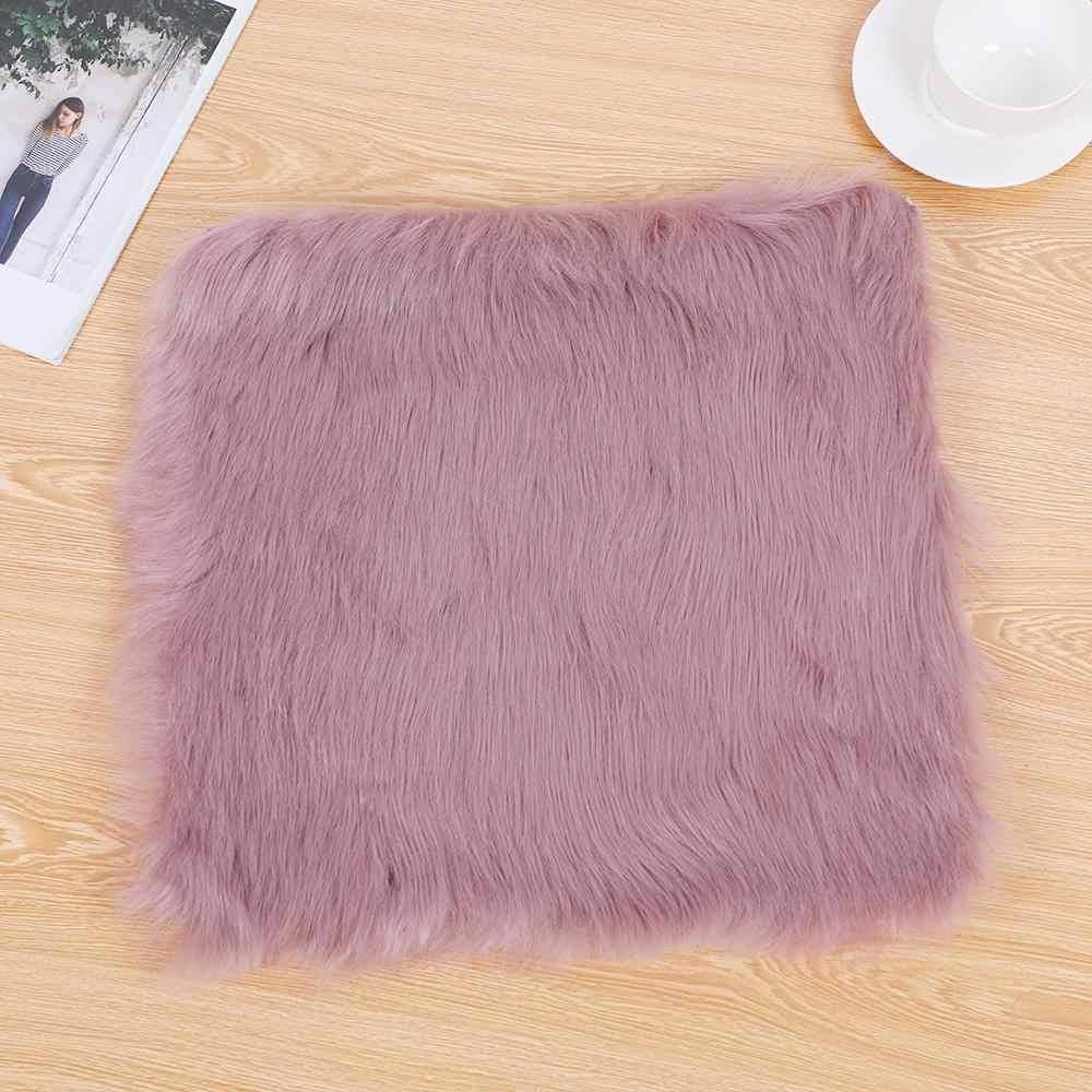 2020 Faux Schaffell Stuhl Abdeckung Multi Warme Haarige Wolle Teppich Sitz Pad Lange Haut Pelz Plain Flauschigen Bereich Teppiche Waschbar