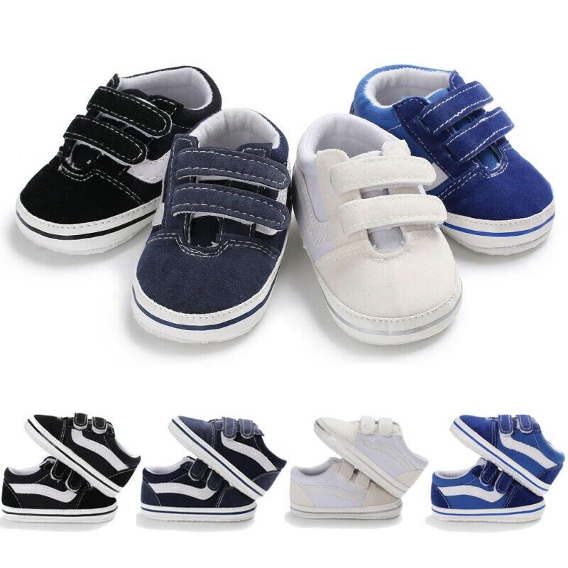 Newborn Baby Shoe Girl Boy Soft Sole Shoe Anti Slip Canvas Sneaker Prewalker 0-18M